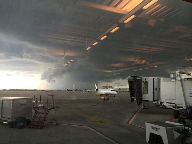 """8aaaaaa The """"indoor"""" airport. Looks stormy out there."""