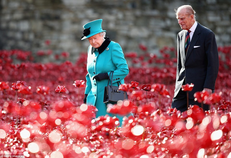 Magical: The Queen and the Duke of Edinburgh paid a visit to the Tower of London's Blood Swept Lands and Seas of Red installation