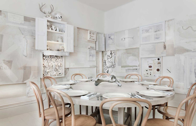 What're those things decorating the walls and tables? You guessed it: animal bones. Ten-thousand animal bones make up the decor of Hueso.