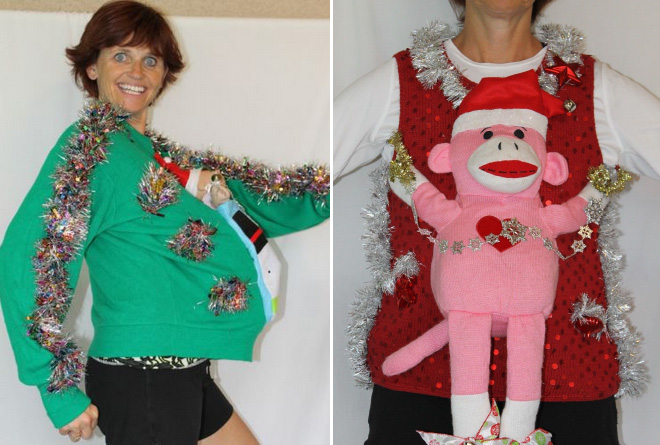 Funny Handmade Christmas Sweaters Made By The Smiling eBay Lady