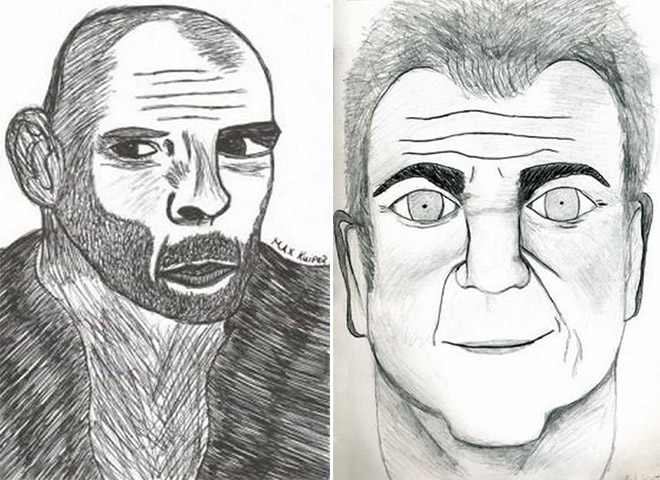 Bruce Willis and Mel Gibson