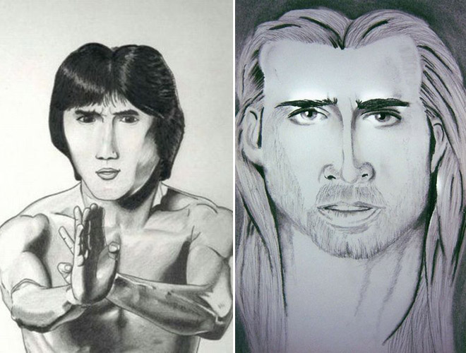 Bruce Lee and Nicolas Cage