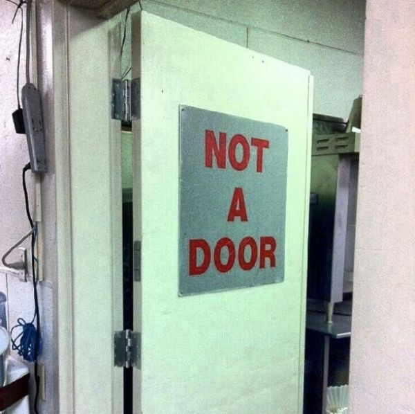13.The hinges beg to differ.
