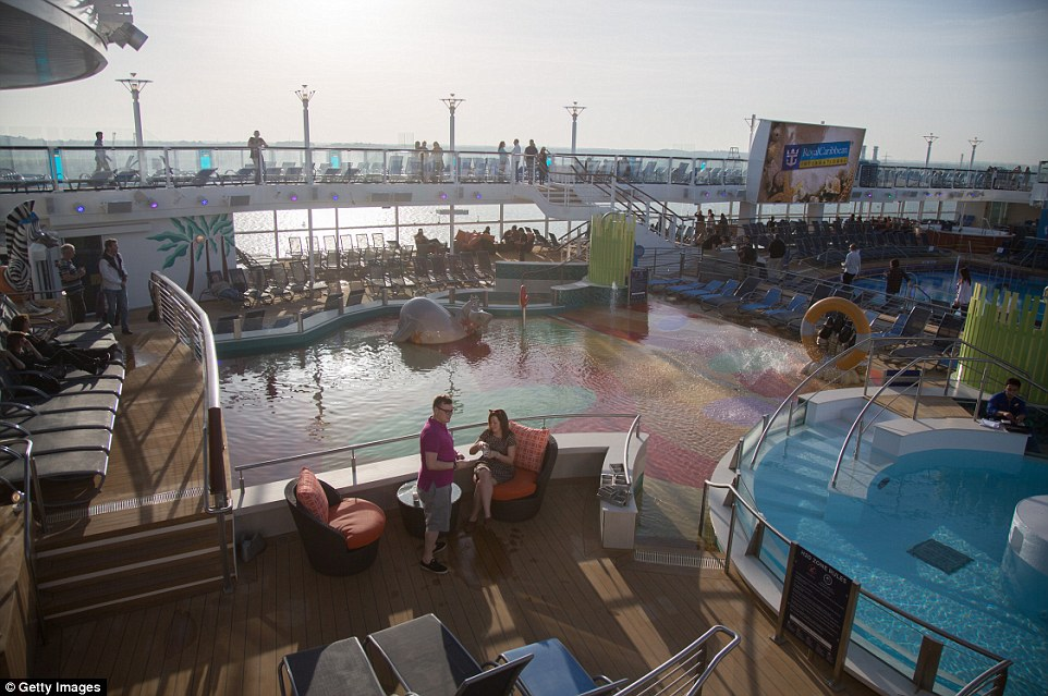 Passengers on board to explore the ship ahead of its maiden voyage on Sunday were treated to sunny weather in Southampton