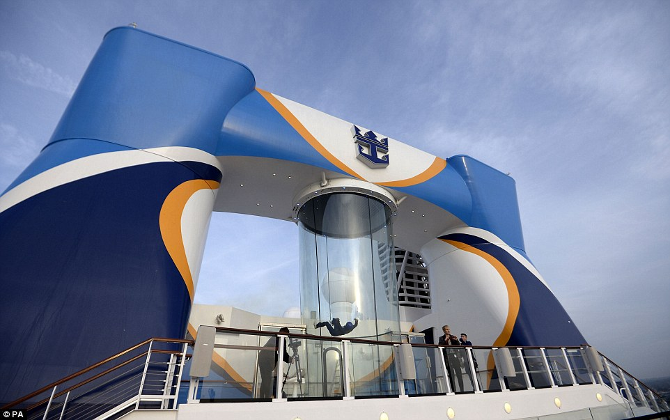 Thrills: Quantum of the Seas is the first cruise ship to include a skydiving simulator