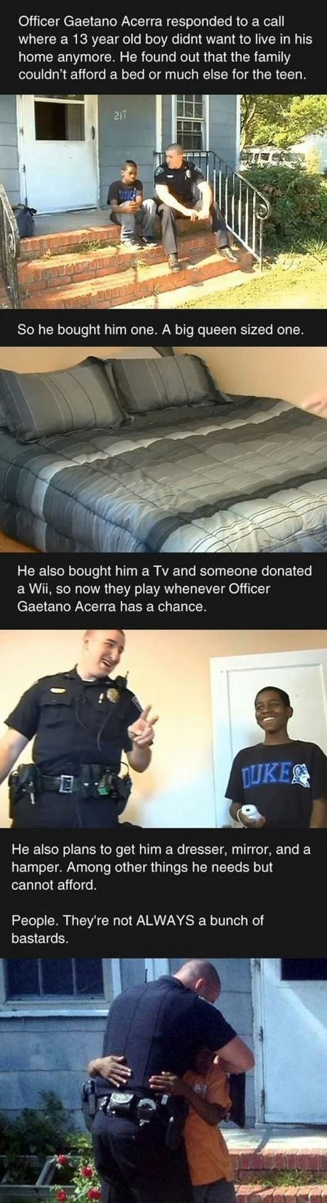 This officer's donations: