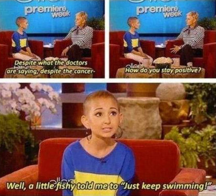 This little girl's words of inspiration: