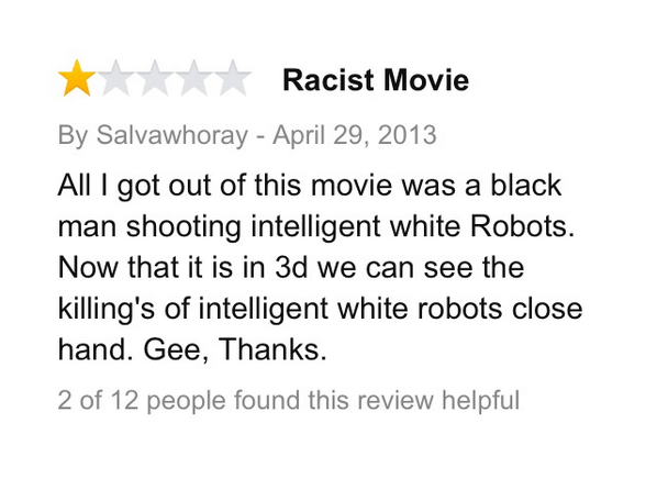 """13.) Finding racism in the movie """"I, Robot."""""""