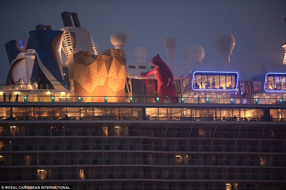 Diners will have no shortage of options when their stomachs start to growl, as the ship boasts 18 restaurants