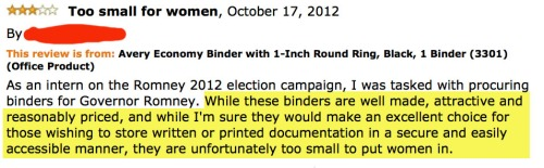 12.) How to review a binder and troll a Presidential candidate.