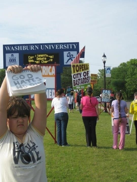 This kid's message of love against the Westboro Baptist Church: