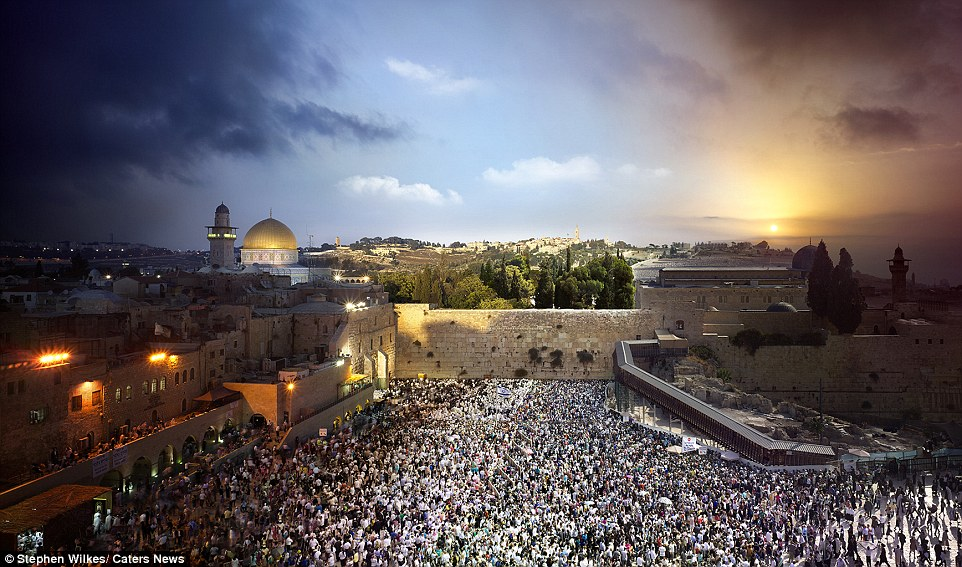 Jerusalem: Wilkes returns to his studio, sometimes spending more than a month blending the shots into one final image
