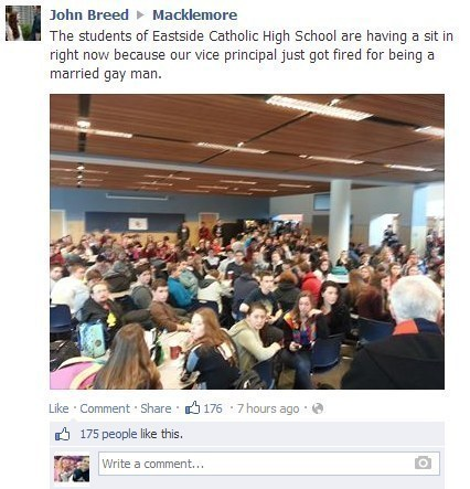 Students standing up for their principal: