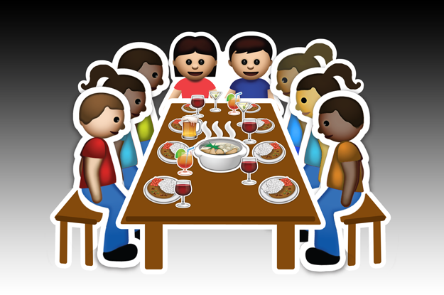 """The """"We're Having A Dinner Party"""" Emoji:"""