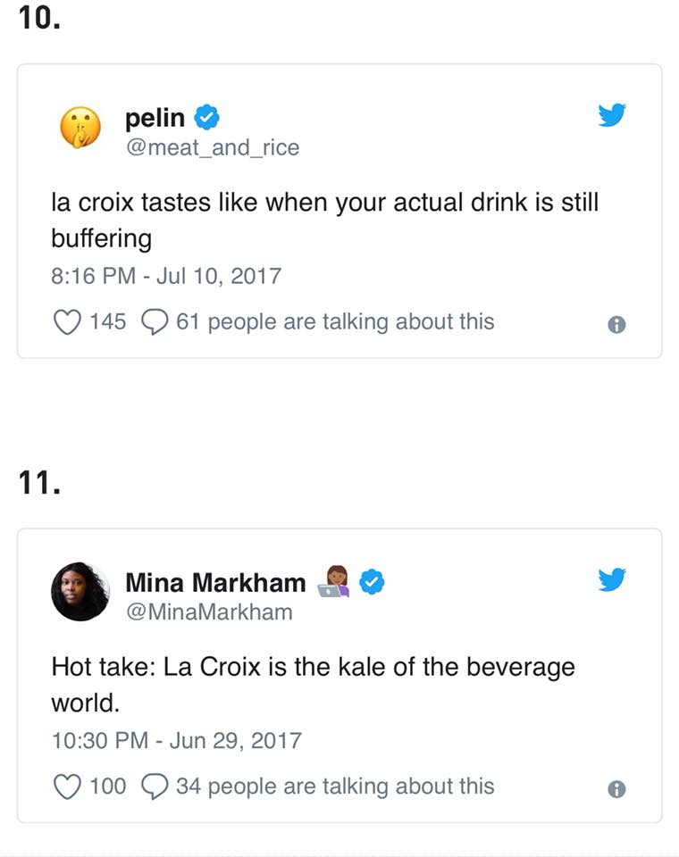 What is LaCroix Tastes like