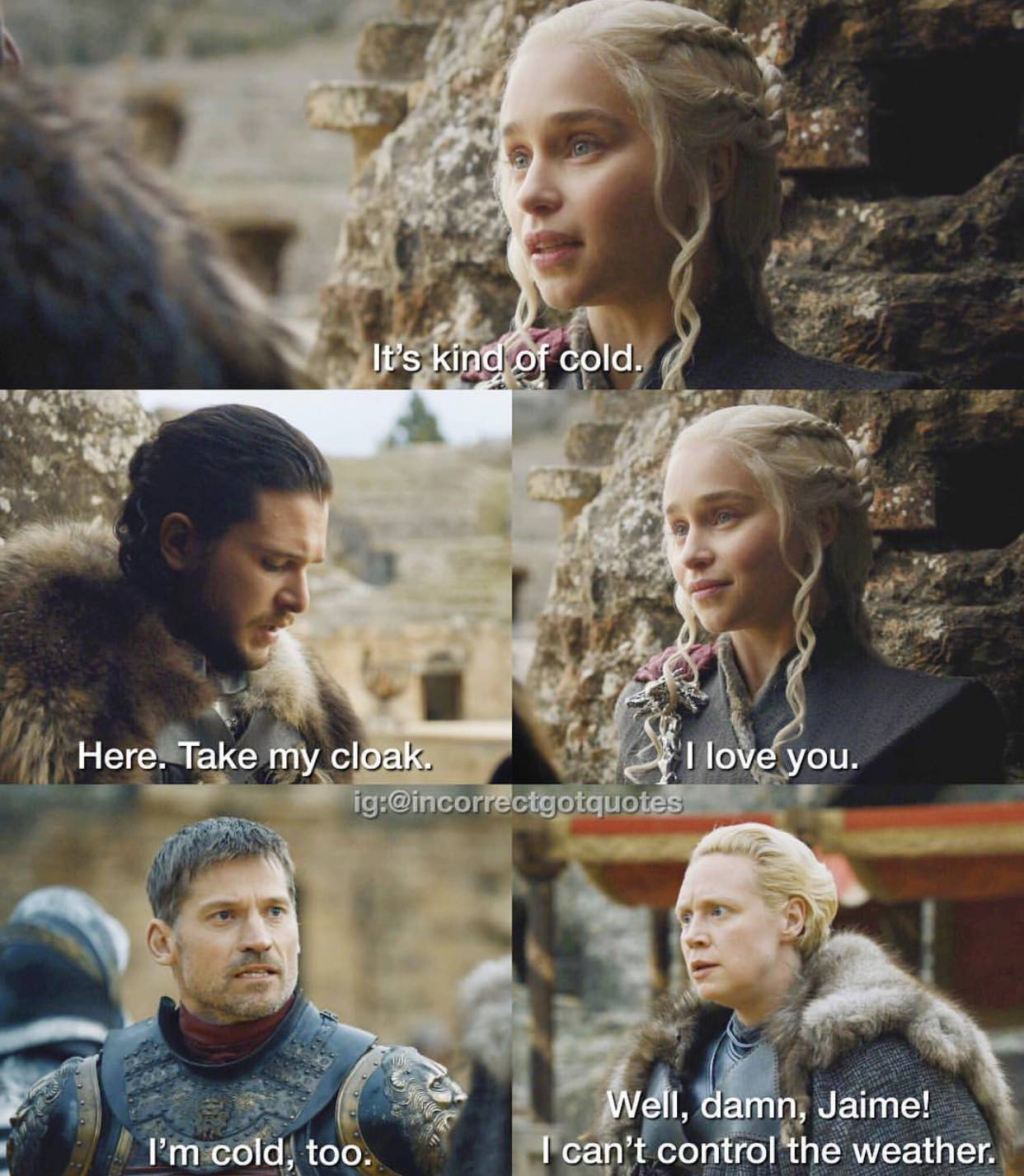 Incorrect Game of Thrones Quotes